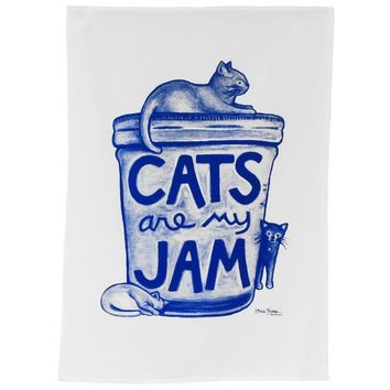 Cats are my Jam Kitchen Towel