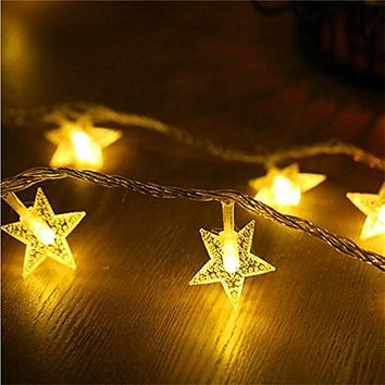 ECLH 1/3M LED Star String Lights LED Fairy Lights Christmas Wedding decoration Lights Battery Operate twinkle lights