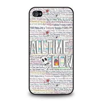 ALL TIME LOW WRITTING iPhone 4 / 4S Case Cover