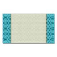 Cute Aqua Pattern Double-Sided Standard Business Cards (Pack Of 100)