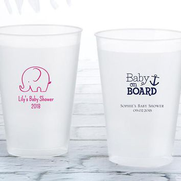 Personalized 12 Oz. Frosted Flex Cup - Baby Shower