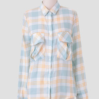 Camping Trails Plaid Blouse