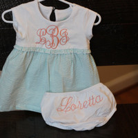 Monogrammed Baby Girl Gingham Easter Dress by SunbirdWay on Etsy