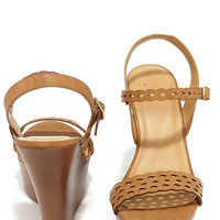 Trellis a Story Tan Platform Wedge Sandals