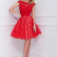 Tony Bowls TS11469 - Red Low Black Prom Dresses Online