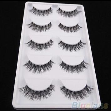 Cross False Eyelash - 5 Pairs