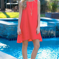 Red Round Neck Sundress