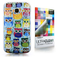 Multi Owl Graphic 3310 back cover, Samsung Galaxy Ace 3, Baby Blue
