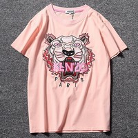 Kenzo Women Men Fashion Casual Short Sleeve
