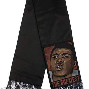Ali The Greatest Pop Art Portrait Fringe Scarf