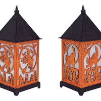 Dia de Los Muertos Collection LED Halloween Lantern  (Set of 2)