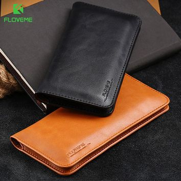 FLOVEME Leather Wallet Case For Samsung Galaxy Note 8 S8 S8 Plus.  Compatible iPhone Model  iPhone 6 ... 0f21700036
