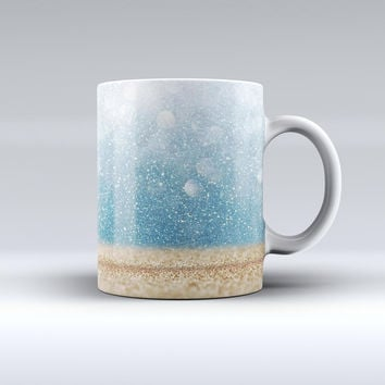 The Unfocused Radient Beach Scene ink-Fuzed Ceramic Coffee Mug