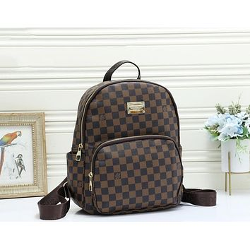 LV Louis Vuitton New fashion monogram print leather couple backpack bag