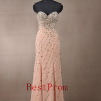 Custom made New style long Prom Dress beading Evening dress Bridesmaid dress
