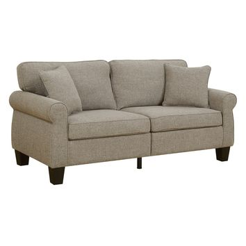 Furniture of America Herena Transitional Linen-like Sofa | Overstock.com Shopping - The Best Deals on Sofas & Couches