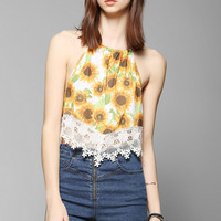 Tela Sunflower Halter Top - Urban Outfitters