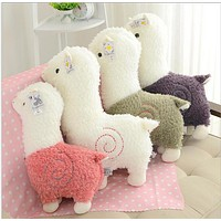 high quality 25cm Alpaca Japan Amuse Alpacasso Arpakasso Plush Stuffed Doll Kids Alpaca Christmas Gifts Toy