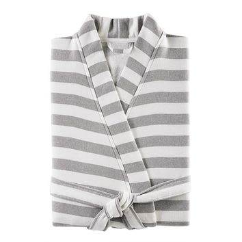 Fouta Striped Robe | Shadow Grey