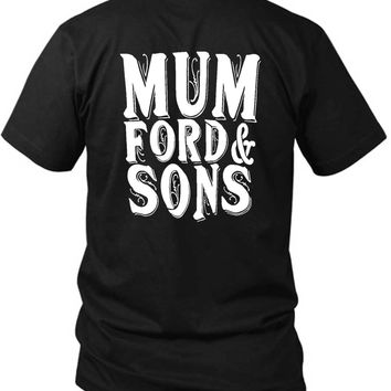 Mumford And Sons Title Large 2 Sided Black Mens T Shirt