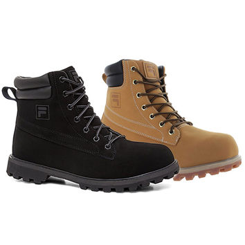 Fila Men's Edgewater Evo Work Hiking Boots Leather Construction Shoes