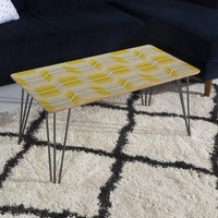 Heather Dutton Delineate Citron Coffee Table