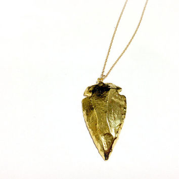 Arrowhead Necklace - Gold - Native American Jewelry