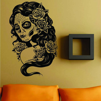 Extra Large Day of the Dead Girl Version 101 Wall Vinyl Decal Sticker
