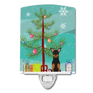 Merry Christmas Tree Manchester Terrier Ceramic Night Light BB4153CNL
