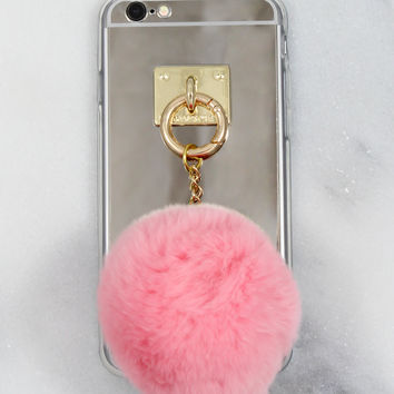 Pink Fuzzball iPhone Case