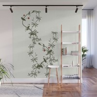 Pimpernel climbs Wall Mural by anipani