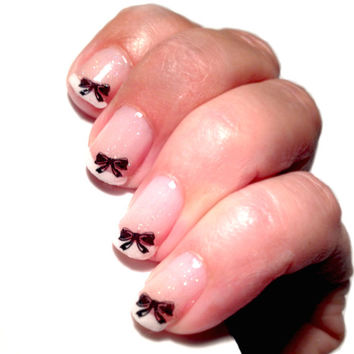 No2 Black Bow Nail Decal  Nail Design NAILTHINS