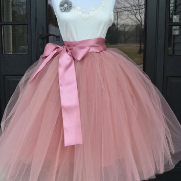 Dusty Rose Pink Tulle skirt