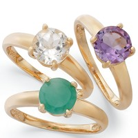 Victoria Townsend 18k Gold over Sterling Silver Birthstone Rings