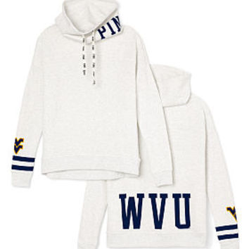 West Virginia University Cowl-Neck Pullover - PINK - Victoria's Secret