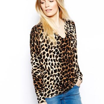 Oasis Oversized Animal Cowl Sweater - Multi
