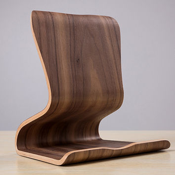 Wooden Stand ipad Holder  Tablet PC for Apple iPad Stand iPhone 6 Samsung