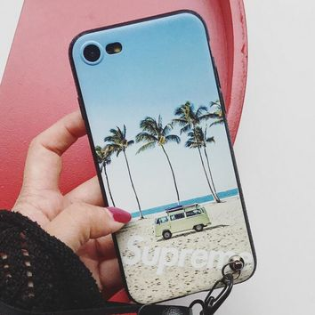 Summer vibe Pattern Case for iPhone X 8 7 6S Plus &Gift Box