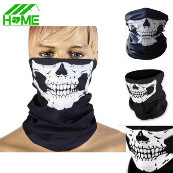 Halloween black face Skull mask costume half facial face blackhead cosplay party scary Ghost Cycling Scarf Skeleton Caps masks