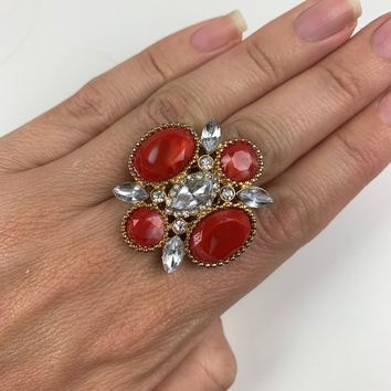 Night Out Cocktail Ring (oranges)