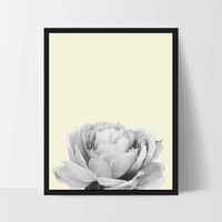 Yellow Peony Flower, Wall Art, Artwork, Home Decor, Modern Print, Print Art, Nature Art