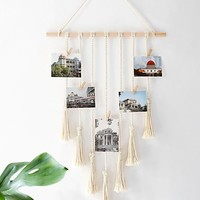 Boho Macrame Picture Photo Wall Hanger