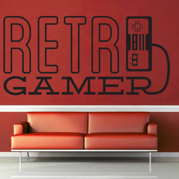 Retro Game - Gamer Décor - Wall Decal$8.95