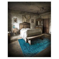 The Conestoga Trading Co. Hand-Woven Teal Area Rug