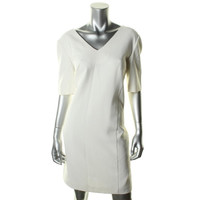 Lord & Taylor Womens Ponte Lined Wear to Work Dress