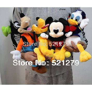 2017 new 4pcs Mickey mouse,Donald duck,GOOFy dog,Pluto dog plush soft toys,best gift for kids&son