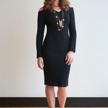 Sweetheart Cold Shoulder Sweater Dress - 3 Colors!