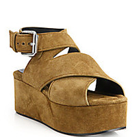 Alexander Wang - Rudy Suede Platform Wedge Sandals - Saks Fifth Avenue Mobile