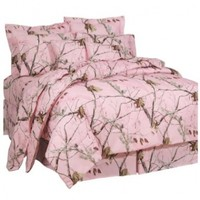 Realtree AP Pink Comforter Set, Full