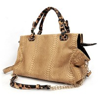 MG Collection Winda Shopper Shoulder Bag, Beige, One Size
